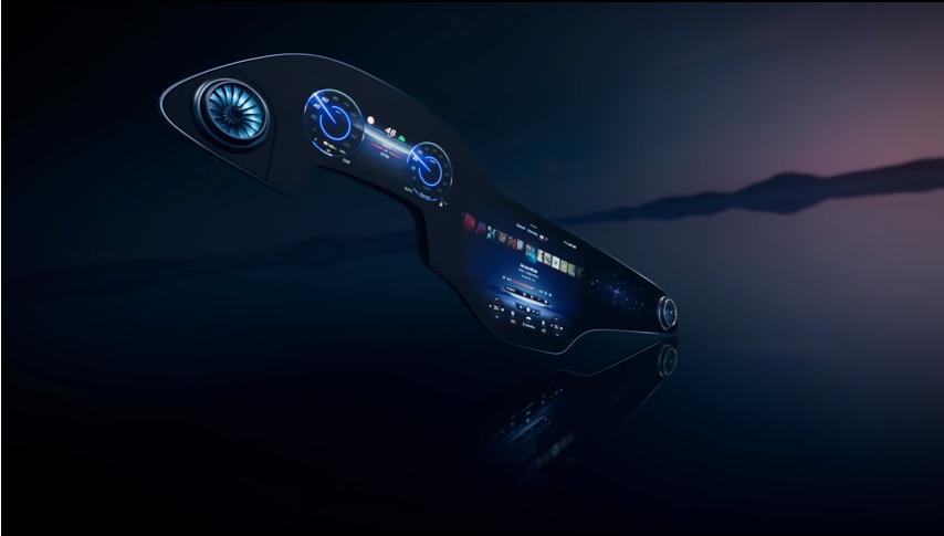 Mercedes – sztuczna inteligencja i ekrany niemal na całą szerokość kabiny.